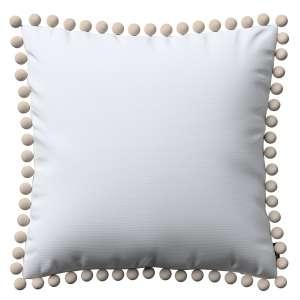 Wera dekoratyvinės pagalvėlės užvalkalas su žaismingais kraštais 45 x 45 cm kolekcijoje Jupiter, audinys: 127-01