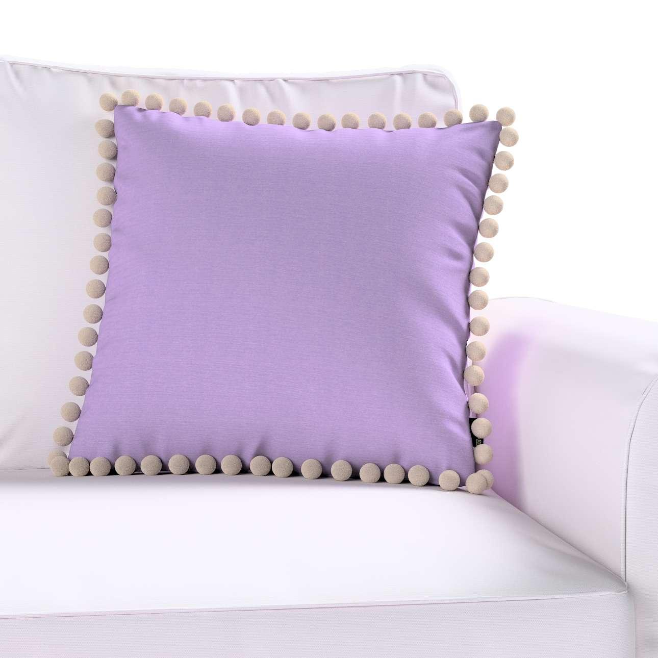 Wera dekoratyvinės pagalvėlės užvalkalas su žaismingais kraštais 45 × 45 cm kolekcijoje Jupiter, audinys: 127-74