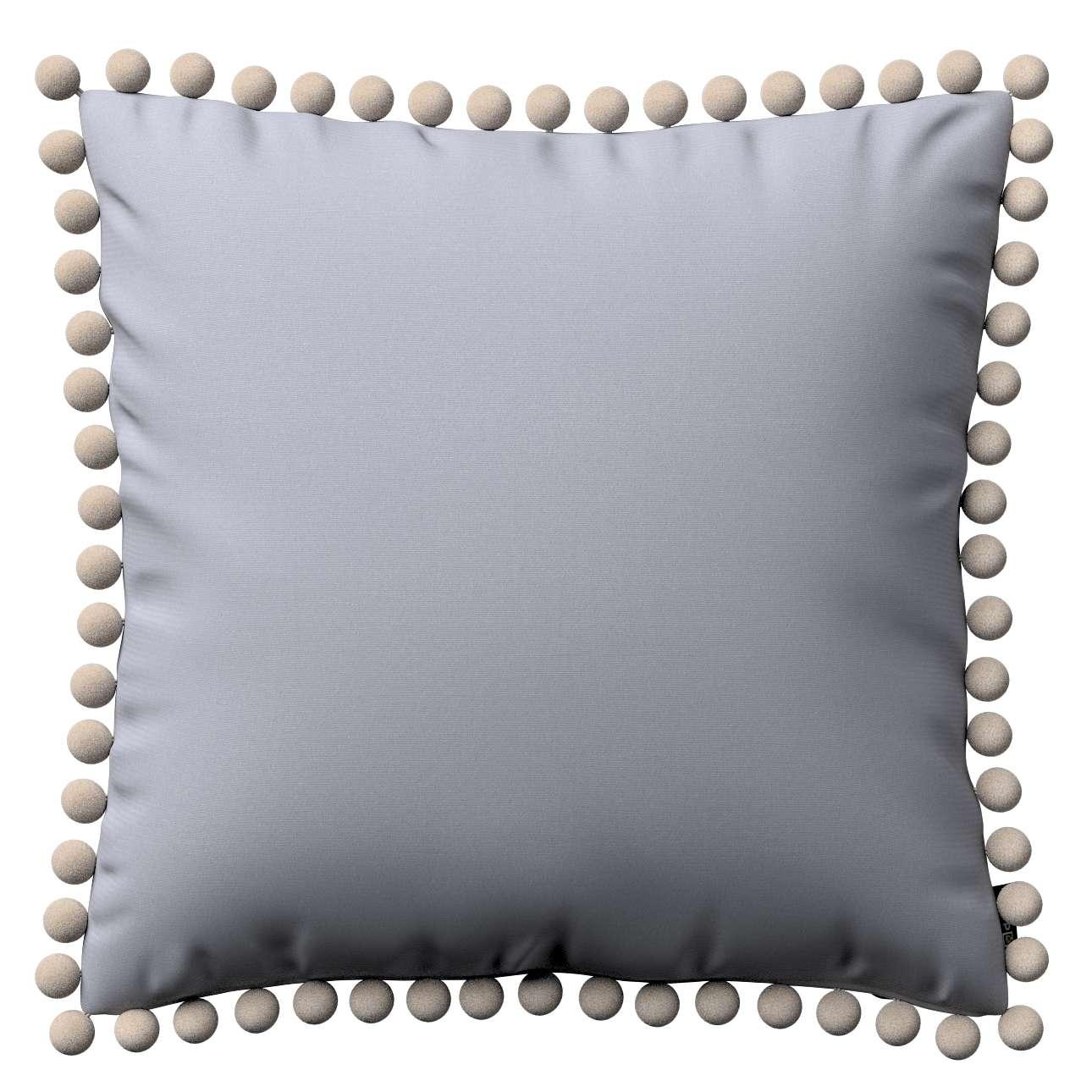 Wera dekoratyvinės pagalvėlės užvalkalas su žaismingais kraštais 45 x 45 cm kolekcijoje Jupiter, audinys: 127-92