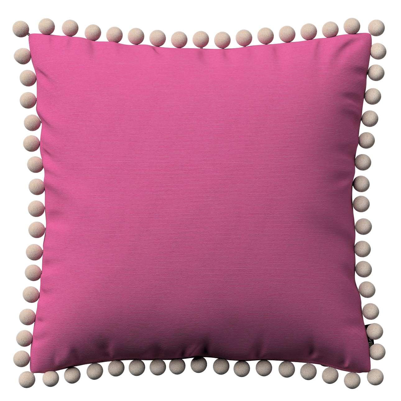 Wera dekoratyvinės pagalvėlės užvalkalas su žaismingais kraštais 45 x 45 cm kolekcijoje Jupiter, audinys: 127-24