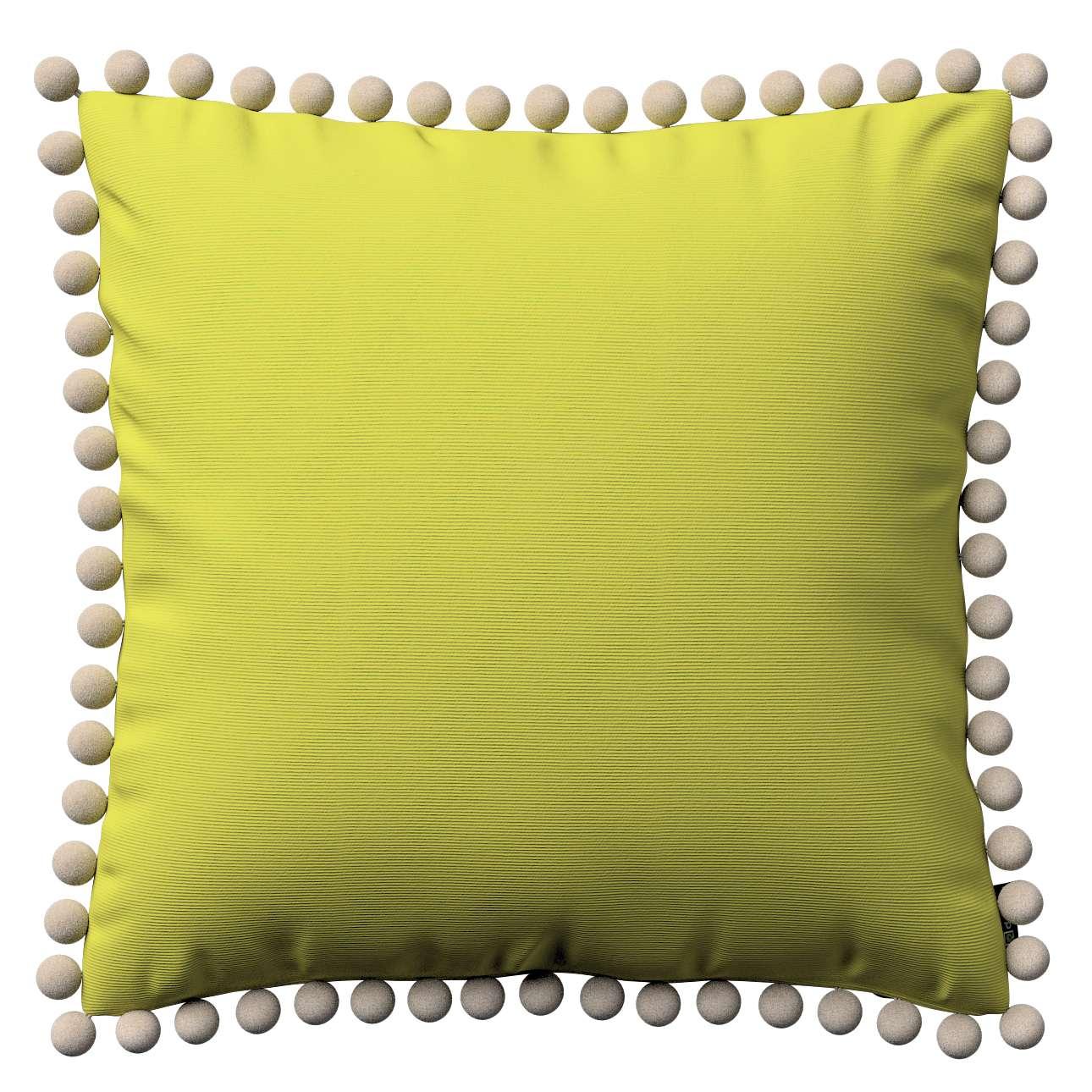Wera dekoratyvinės pagalvėlės su žaismingais kraštais 45 x 45 cm kolekcijoje Jupiter, audinys: 127-50