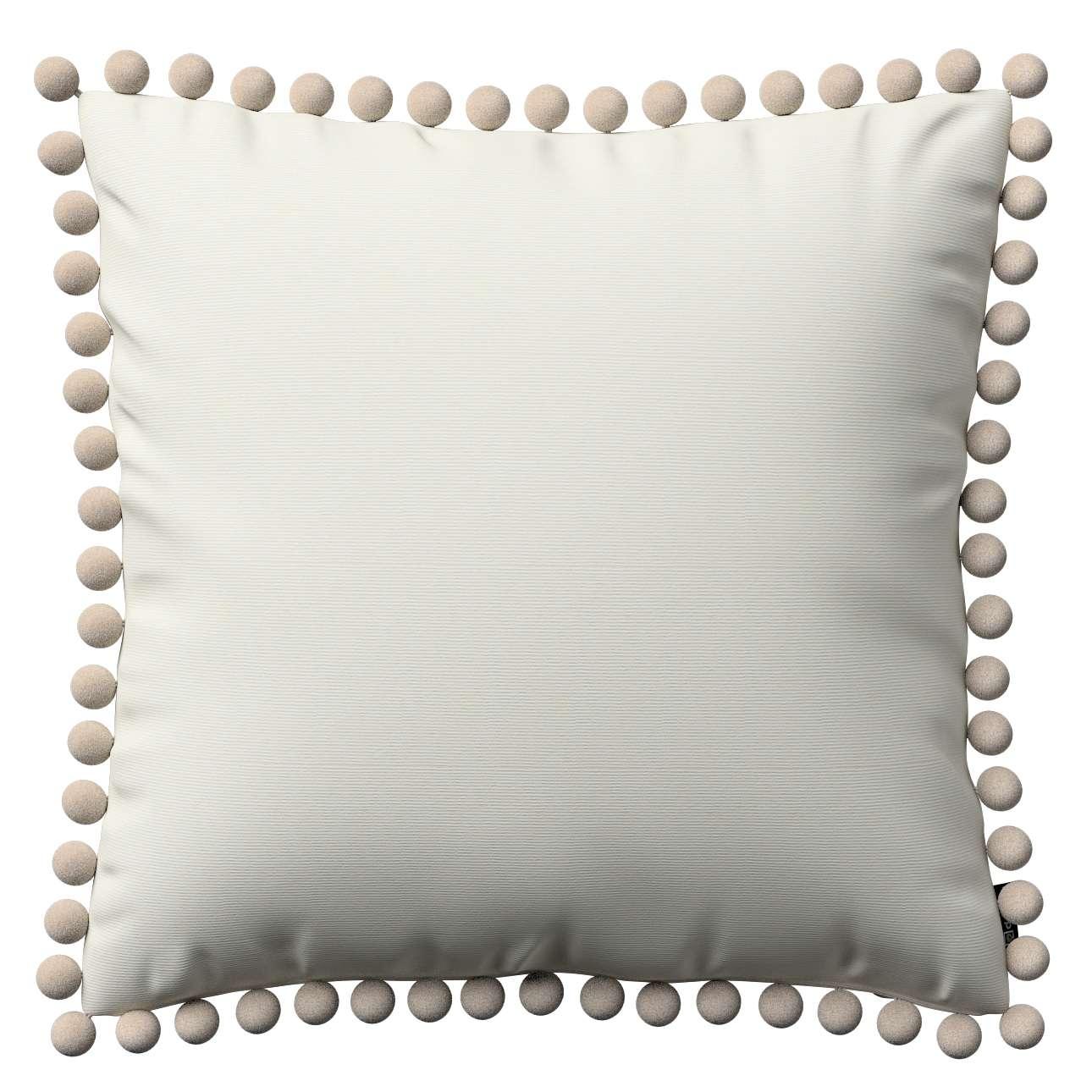 Wera dekoratyvinės pagalvėlės užvalkalas su žaismingais kraštais kolekcijoje Jupiter, audinys: 127-00
