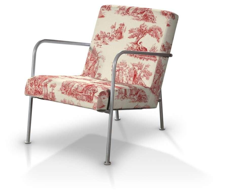 ikea ps sesselbezug creme rot dekoria. Black Bedroom Furniture Sets. Home Design Ideas