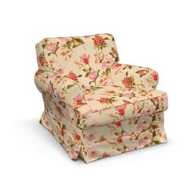 Barkaby fotelio užvalkalas 123-05 gėlės gelsvai kreminiame fone Kolekcija Londres