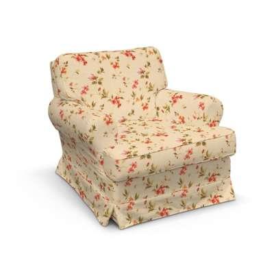 Barkaby fotelio užvalkalas 124-05 gėlės gelsvai kreminiame fone Kolekcija Londres