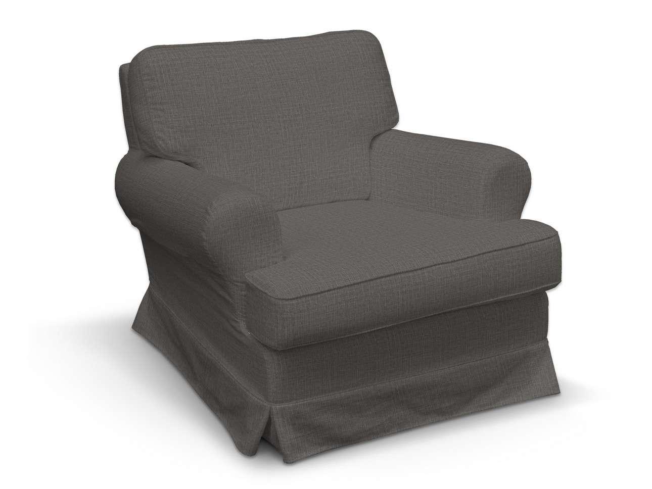 Pokrowiec na fotel Barkaby w kolekcji Living, tkanina: 161-16