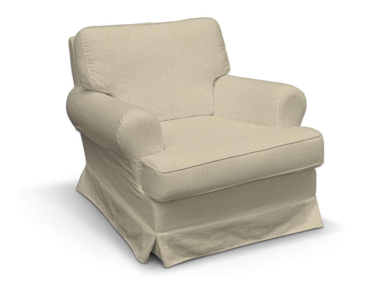 Pokrowiec na fotel Barkaby w kolekcji Living, tkanina: 161-45