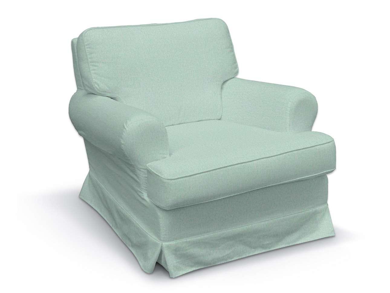 Pokrowiec na fotel Barkaby w kolekcji Living, tkanina: 161-61
