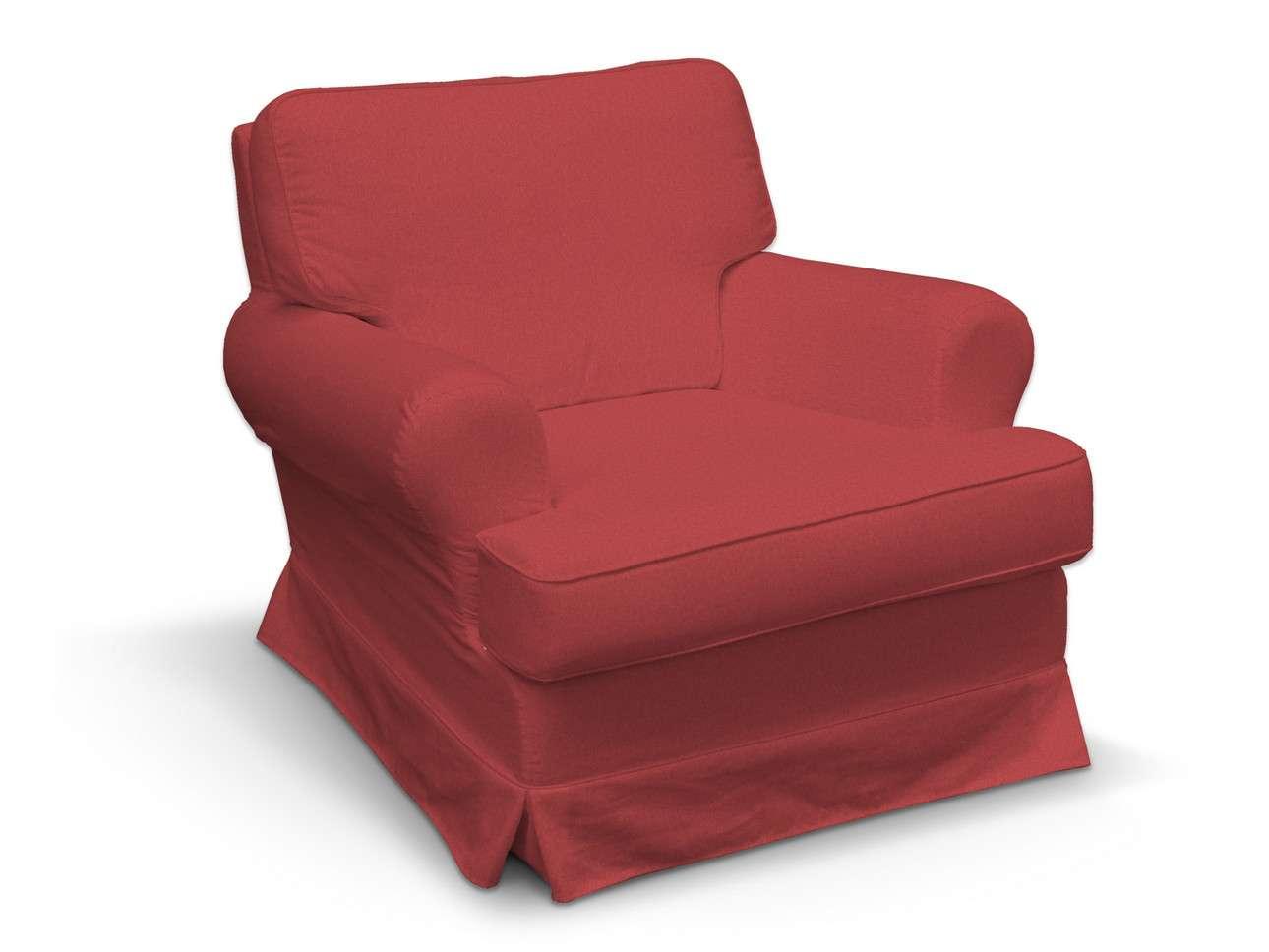 Pokrowiec na fotel Barkaby w kolekcji Living, tkanina: 161-56
