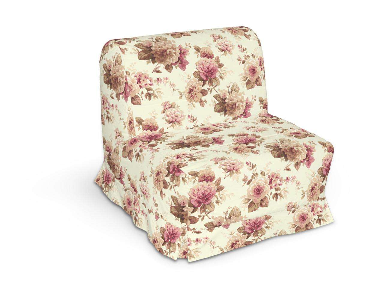 Pokrowiec na fotel Lycksele z kontrafałdami w kolekcji Londres, tkanina: 141-06