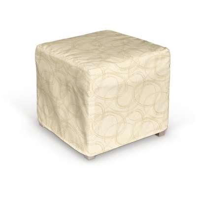 Potah na kostku Solsta Pällbo 161-81 geometrický vzor na krémovém pozadí  Kolekce Living