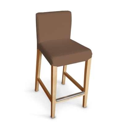 Návlek na barovú stoličku Henriksdal, krátky 133-09 hnedá Kolekcia Loneta