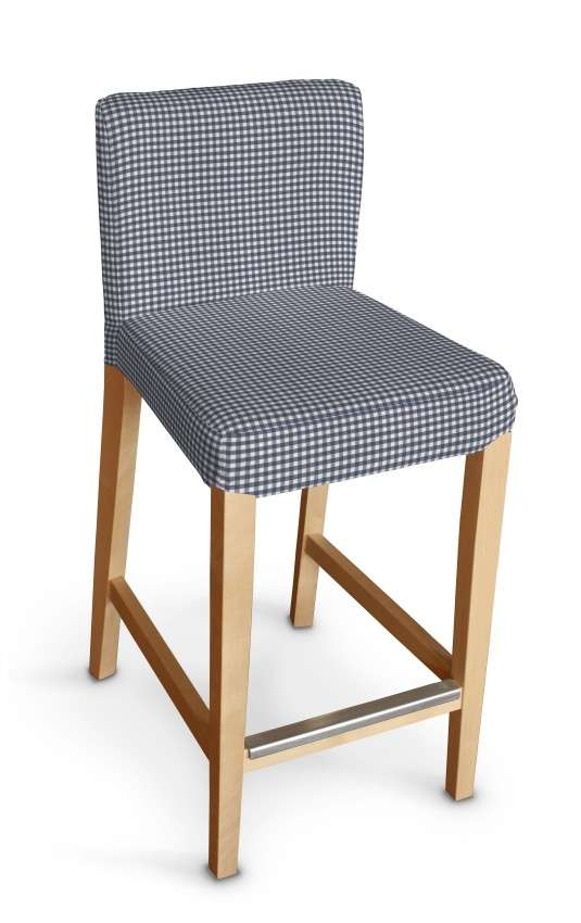 Henriksdal bar stool cover in collection Quadro, fabric: 136-00