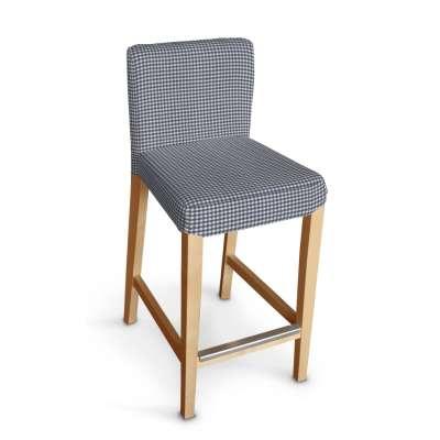 Sukienka na krzesło barowe Henriksdal krótka 136-00 granatowo biała krateczka (0,5x0,5cm) Kolekcja Quadro