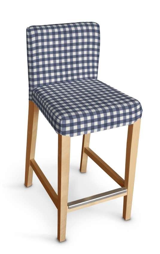 Návlek na barovú stoličku Henriksdal, krátky V kolekcii Quadro, tkanina: 136-01