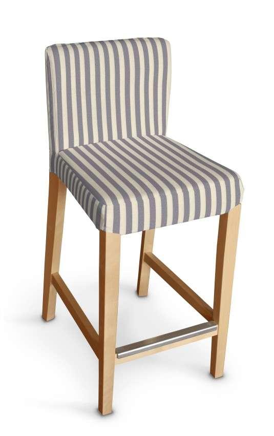Návlek na barovú stoličku Henriksdal, krátky V kolekcii Quadro, tkanina: 136-02