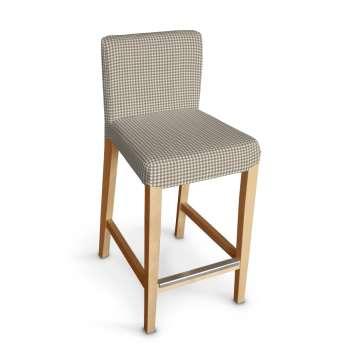 Sukienka na krzesło barowe Henriksdal krótka krzesło barowe Henriksdal w kolekcji Quadro, tkanina: 136-05