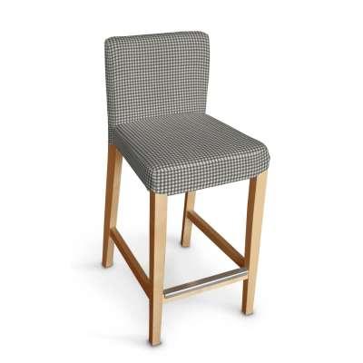 Návlek na barovú stoličku Henriksdal, krátky V kolekcii Quadro, tkanina: 136-10