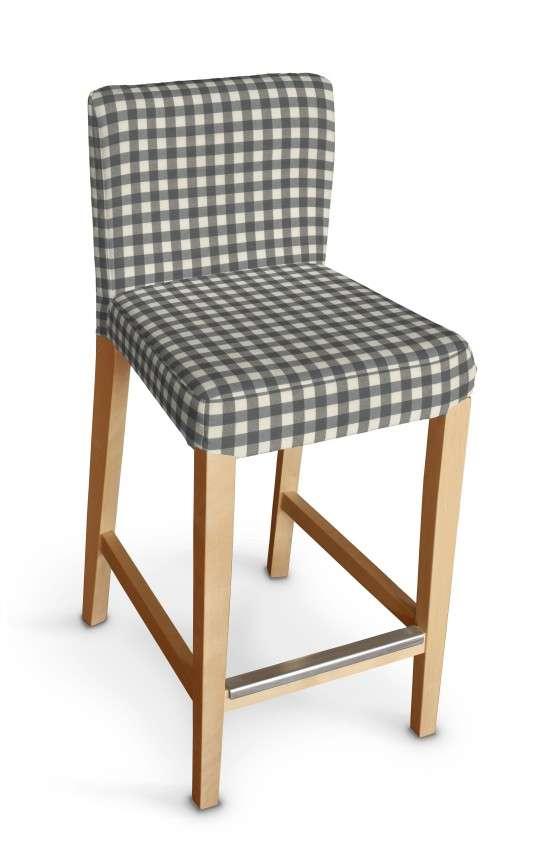 Návlek na barovú stoličku Henriksdal, krátky V kolekcii Quadro, tkanina: 136-11