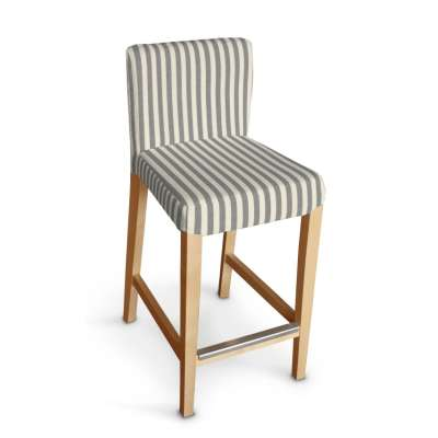 Návlek na barovú stoličku Henriksdal, krátky V kolekcii Quadro, tkanina: 136-12
