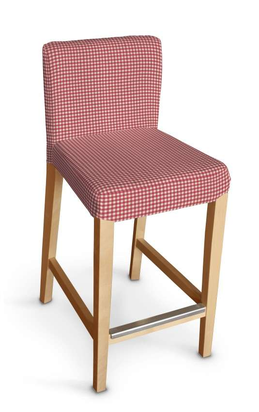 Návlek na barovú stoličku Henriksdal, krátky V kolekcii Quadro, tkanina: 136-15