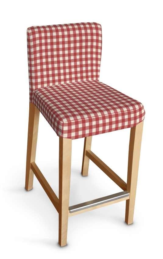 Sukienka na krzesło barowe Henriksdal krótka krzesło barowe Henriksdal w kolekcji Quadro, tkanina: 136-16