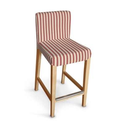 Návlek na barovú stoličku Henriksdal, krátky 136-17 červeno-biele prúžky Kolekcia Quadro