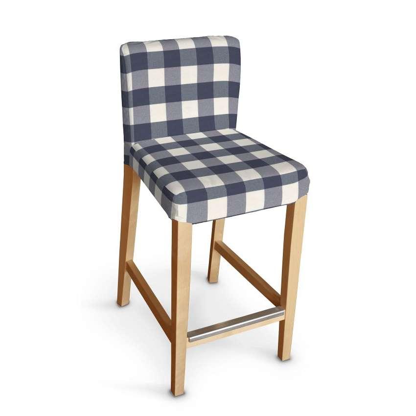 henriksdal husse f r barhocker weiss dunkelblau kariert dekoria. Black Bedroom Furniture Sets. Home Design Ideas