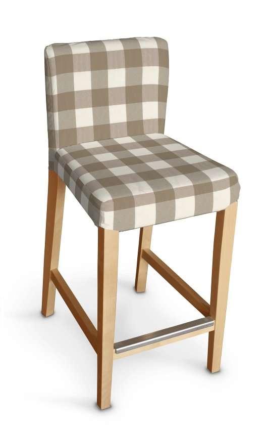 Návlek na barovú stoličku Henriksdal, krátky V kolekcii Quadro, tkanina: 136-08