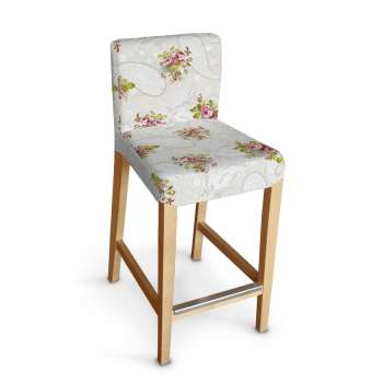 Sukienka na krzesło barowe Henriksdal krótka krzesło barowe Henriksdal w kolekcji Flowers, tkanina: 311-15