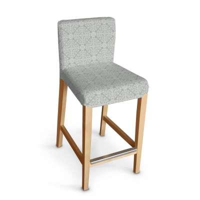 Sukienka na krzesło barowe Henriksdal krótka 140-38 wzory na szarym tle Kolekcja Flowers