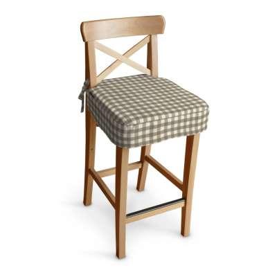 Siedzisko na krzesło barowe Ingolf w kolekcji Quadro, tkanina: 136-06