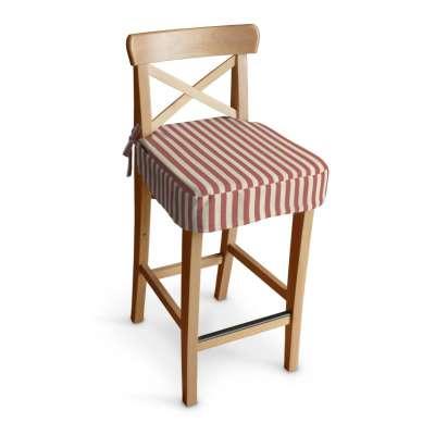 Poťah na barovú stoličku Ingolf 136-17 červeno-biele prúžky Kolekcia Quadro