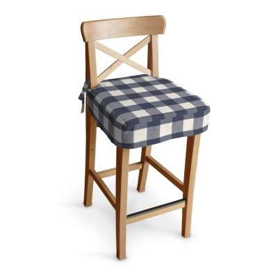 Siedzisko na krzesło barowe Ingolf w kolekcji Quadro, tkanina: 136-03