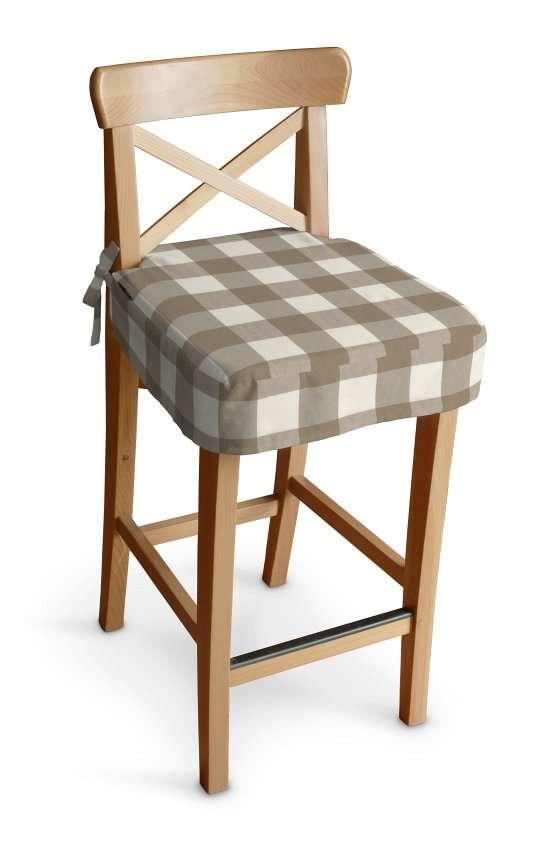Ingolf Barstol sittepute fra kolleksjonen Quadro, Stoffets bredde: 136-08