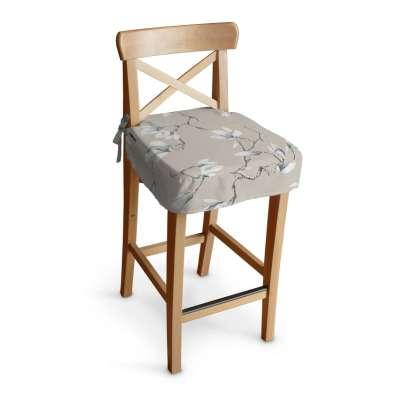 Poťah na barovú stoličku Ingolf 311-12 magnólie na béžovom podklade Kolekcia Flowers