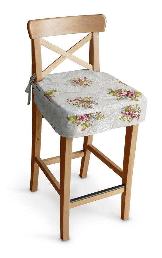 Ingolf baro kėdės užvalkalas - trumpas Ingolf baro kėdė kolekcijoje Flowers, audinys: 311-15
