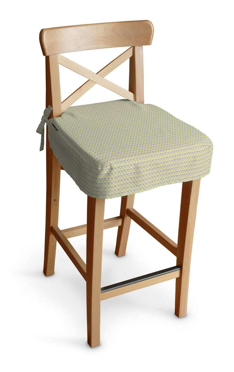 Ingolf Bar Stool Seat Pad Cover Green And Brown Beige