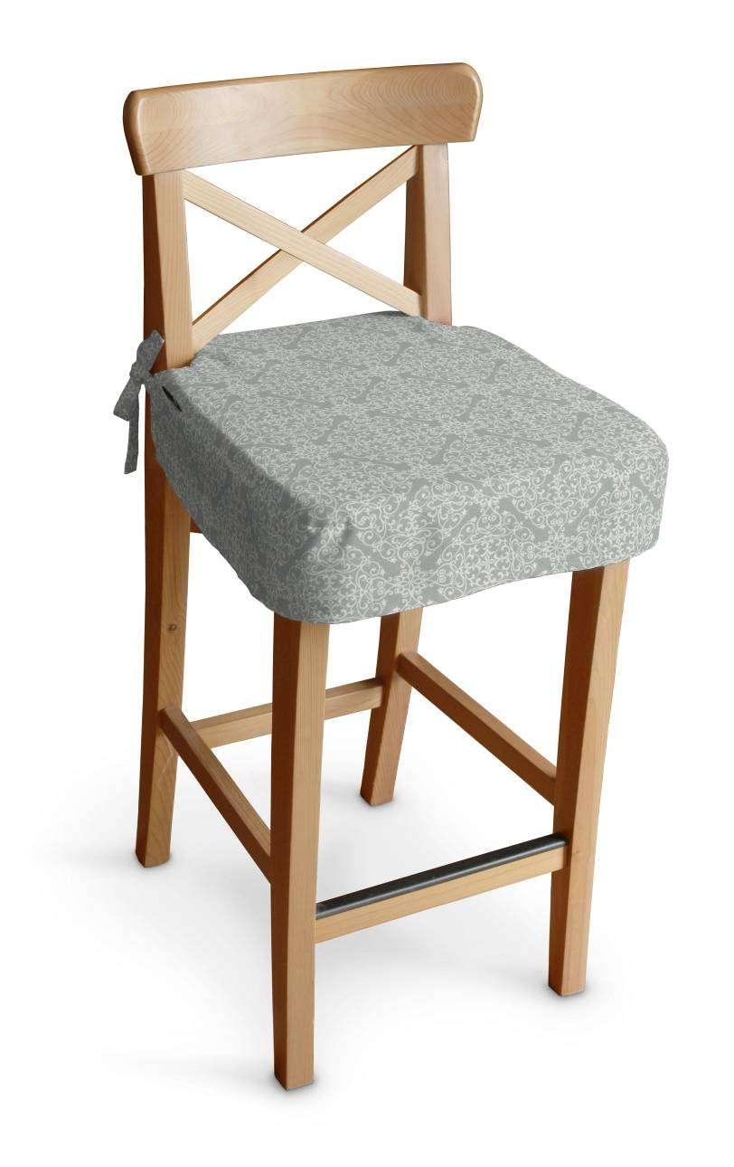 Siedzisko na krzesło barowe Ingolf krzesło barowe Ingolf w kolekcji Flowers, tkanina: 140-38