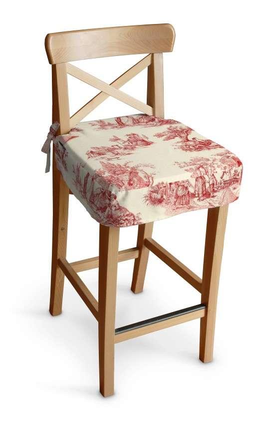 Ingolf baro kėdės užvalkalas - trumpas Ingolf baro kėdė kolekcijoje Avinon, audinys: 132-15
