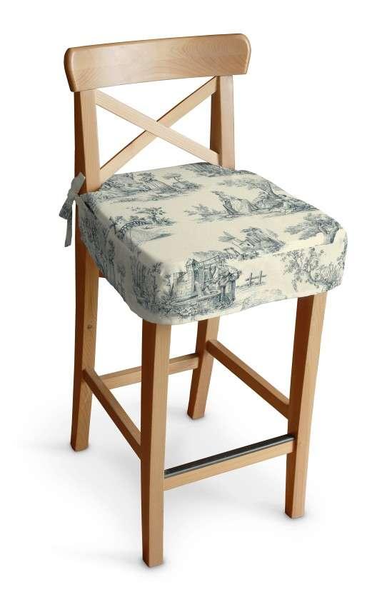 Siedzisko na krzesło barowe Ingolf krzesło barowe Ingolf w kolekcji Avinon, tkanina: 132-66