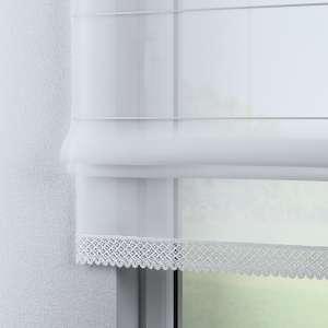 Rímska roleta Lily z voalu biela so širokou čipkou 100x180cm V kolekcii Záclona hladká, tkanina: 900-00