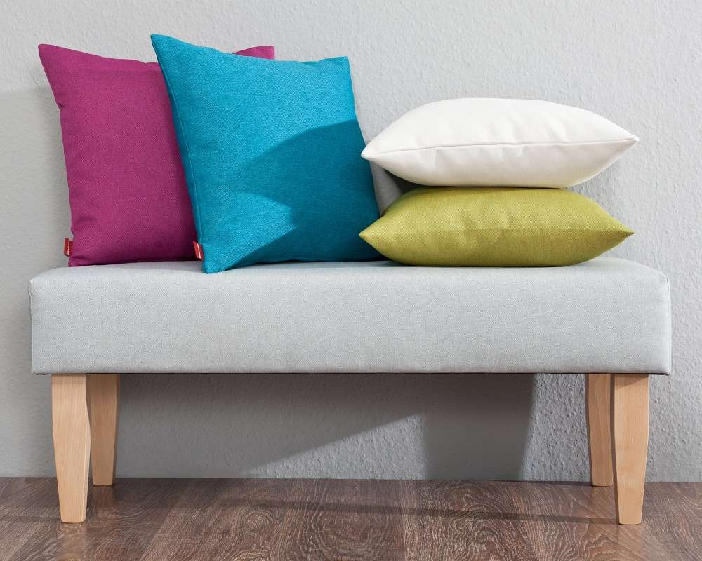 sitzbank 100cm hellgrau dekoria. Black Bedroom Furniture Sets. Home Design Ideas