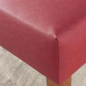 Sitzbank 100 cm 100x40x40cm von der Kollektion Öko-Leder, Stoff: 104-49