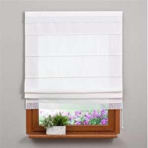 Romanetė su dekoratyviniais nėriniais (balta) 80x170cm kolekcijoje Loneta , audinys: 133-02