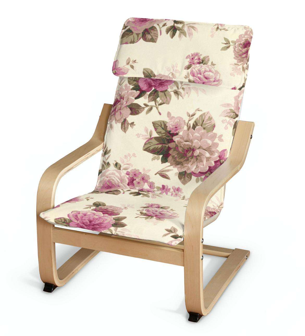 Poäng children's armchair cushion + cover, pink and beige ...