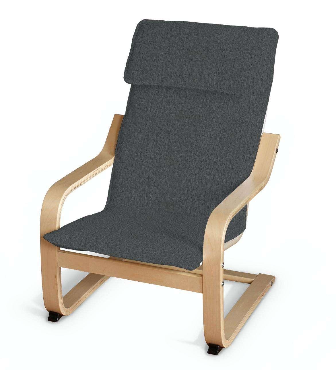 po ng kissen f r den kindersessel stahlgrau dekoria. Black Bedroom Furniture Sets. Home Design Ideas