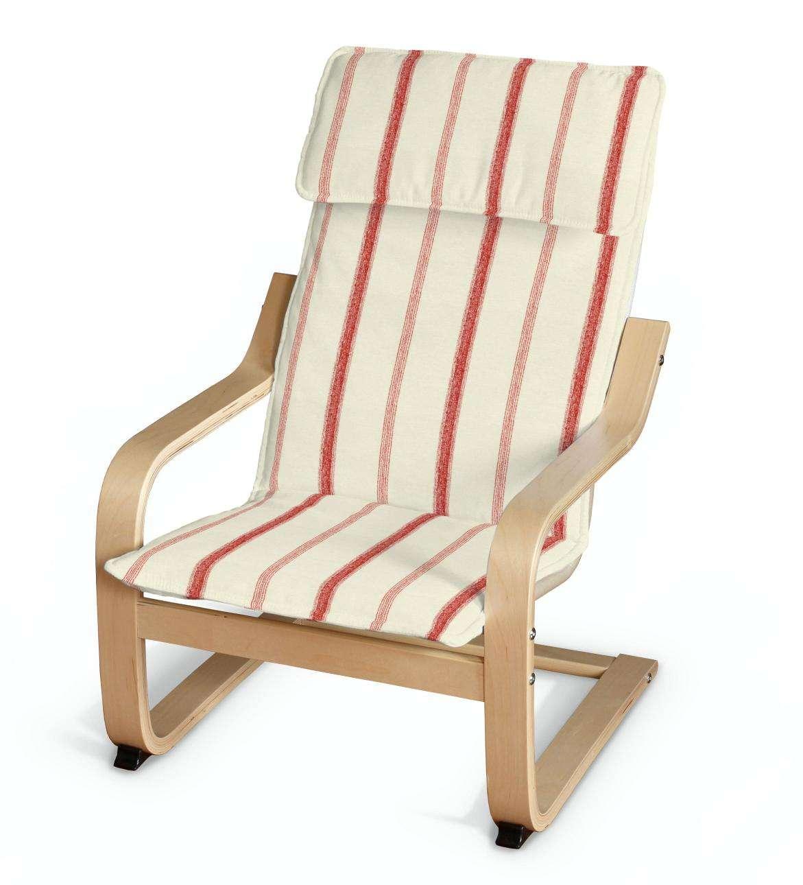 Poang Kinderfauteuil Ikea.Poang Kussen Voor Een Kinderstoel Creme Rood 129 15 Dekoria