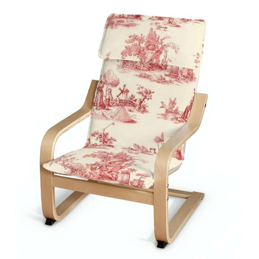 po ng kissen f r den kindersessel creme rot dekoria. Black Bedroom Furniture Sets. Home Design Ideas