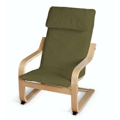 Sedák na dětské křeslo IKEA Poäng 161-26 olivová zelená Kolekce Etna